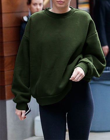 Olive Basic Sweatshirt