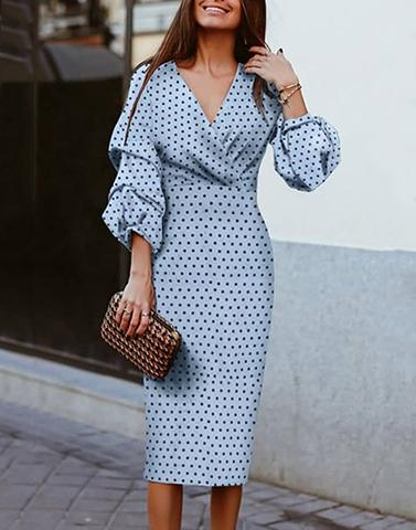 Day Delight Bell Sleeves Dress