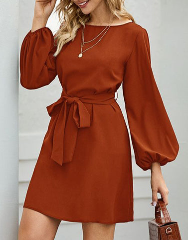 Tawny Bow Shift Dress
