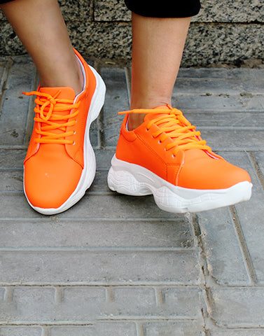 Snappin' Orange Sneakers