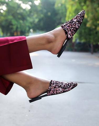 Party Vibes Glitter Mules