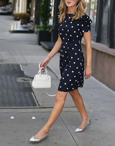 Streetwear Polka Bodycon Dress