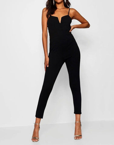 Black Shine Jumpsuit