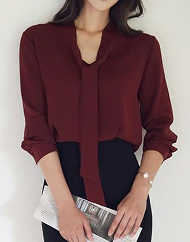 Formal Fantasy Maroon Top