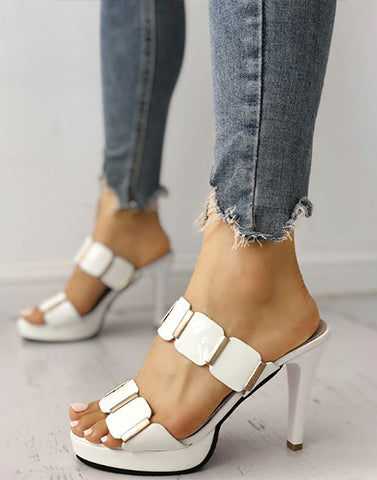 Stylish White Stilettoe Heels