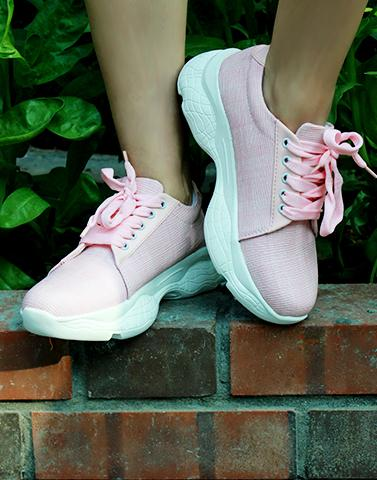 Pink Flamingo Checkered Sneakers