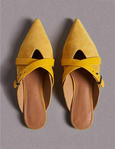 Sleek Sunshine Yellow Mule