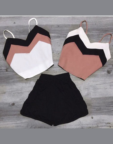 Dule Crop Tops With Shorts