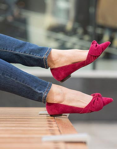 Red Bow Flattering Flats