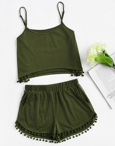 To The Point Olive Green Nightwear