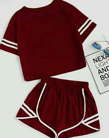 Maroon Time Nightwear