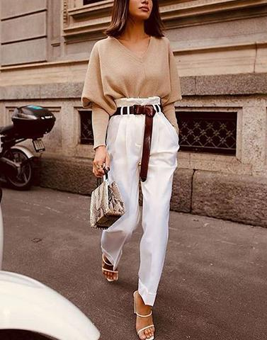 Wanderer White Trousers