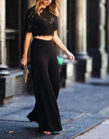 Pitch Black Culottes Trousers