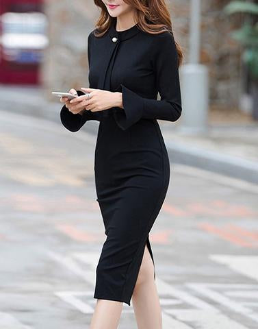 Bodycon Black Posh Dress