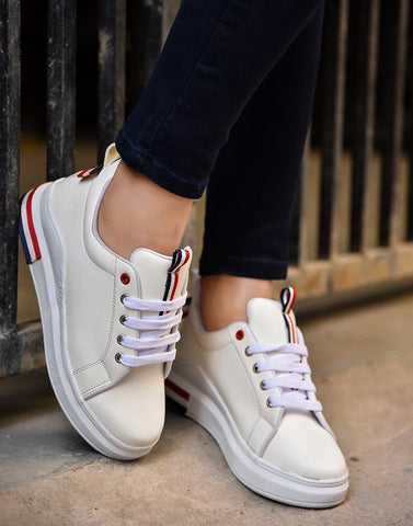 Party In Paris White Sneakers