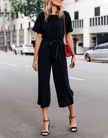 Casual But Classic Black Jumpsuit
