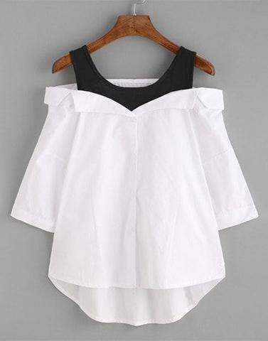 Gloriously Drop Shoulder White Top