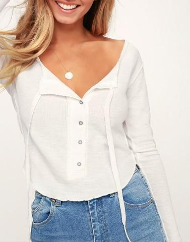 All White Uber Casual Top