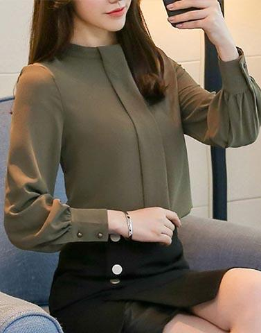 Graceful Olive Green Top