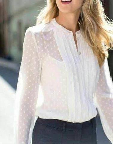 Sheer Elegant White Top
