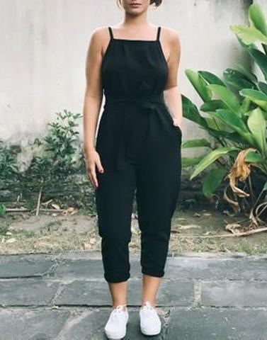 Black Bold Statement Jumpsuit