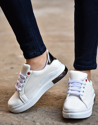 Stately White Sneakers