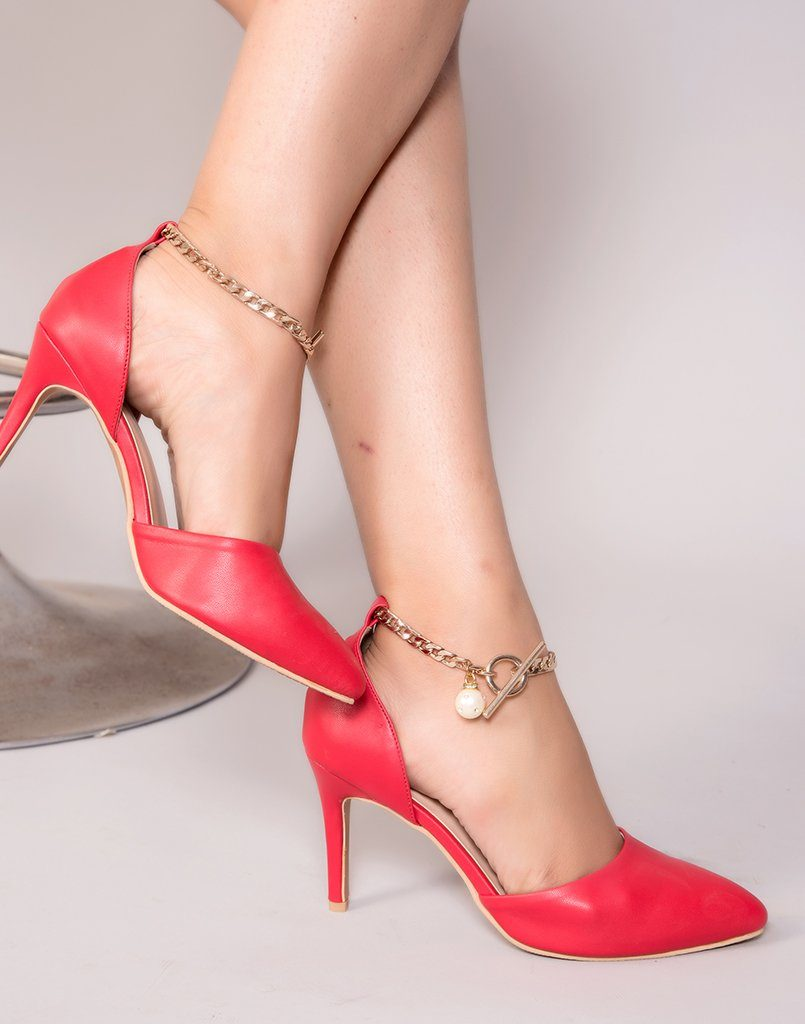 Stylish Buckled Pop Heels