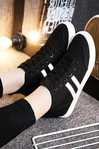 Black White Comfy Sneakers