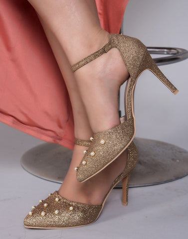 Shiny Copper Heels