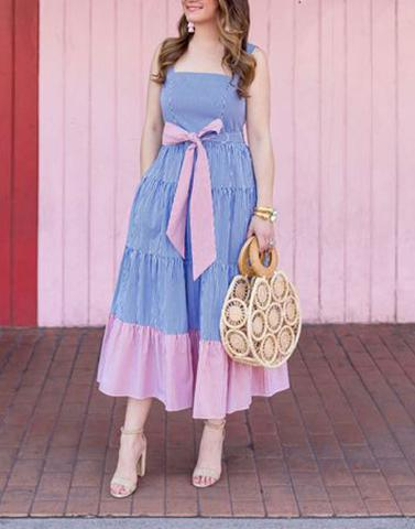 Chambray Sweet Surrender  Maxi Dress