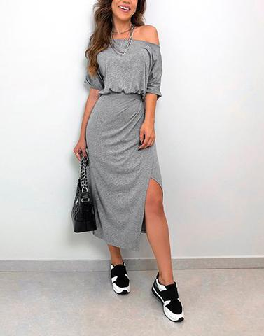 Jersey Grey Around Town Dress
