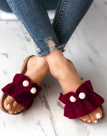 Power Pearls Maroon Footwear