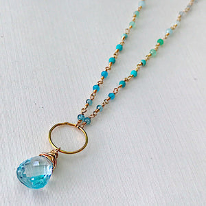Blue Topaz Gulf Waters Necklace