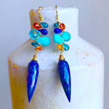 Celestia Woven Lapis Earrings