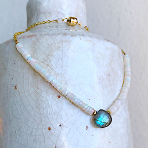 Opal and Labradorite Camille Necklace