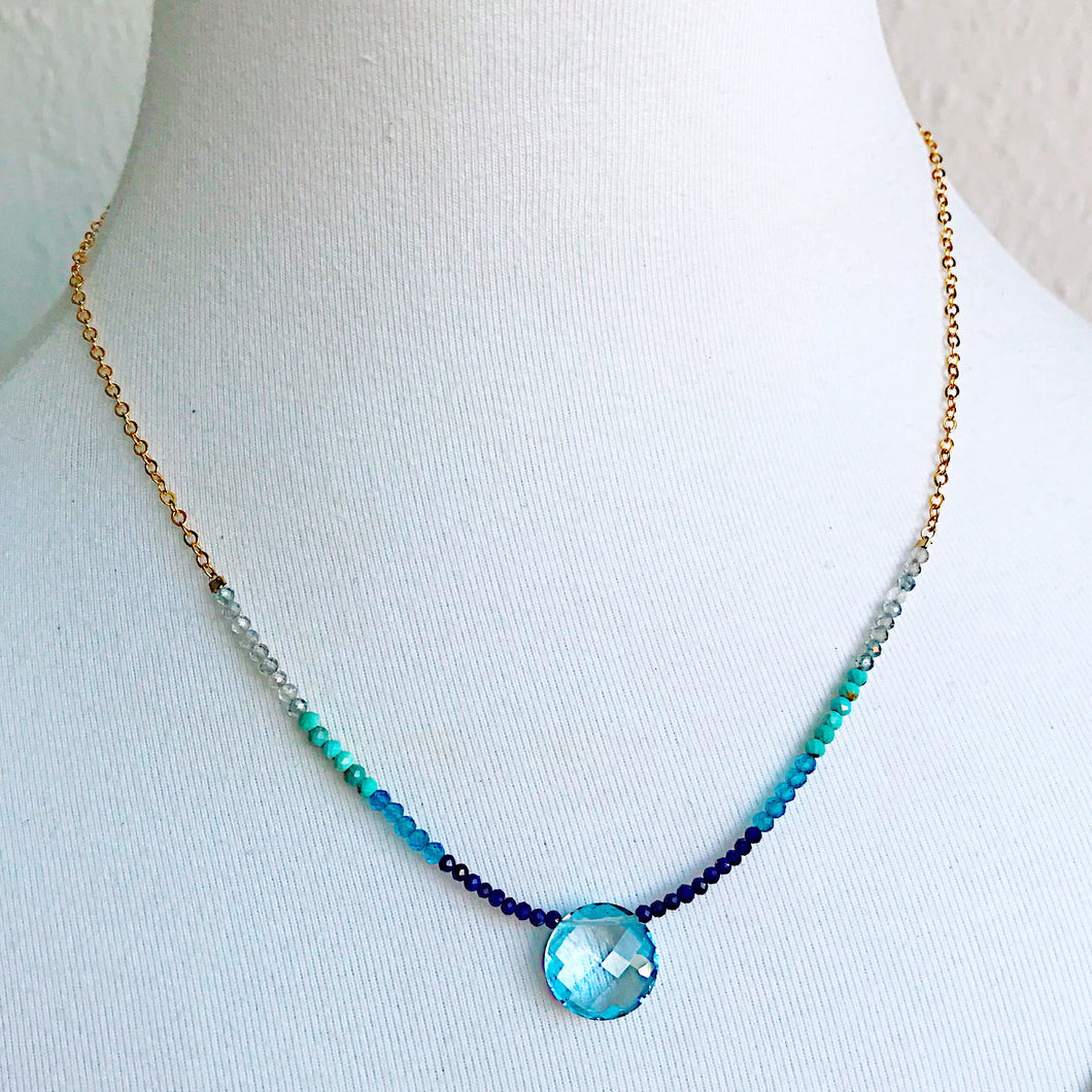 Blue Topaz Ombre Camille Necklace