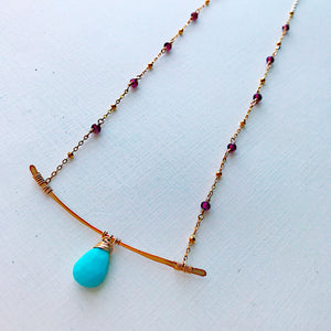 Garnet Branch Necklace
