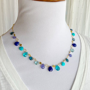 Sea Lavender Briolette Necklace