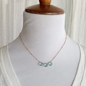 Topaz Trio Rose Gold Necklace