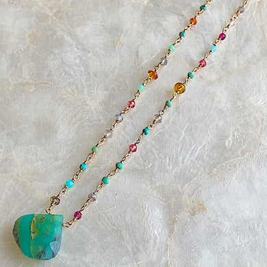 Peruvian Opal Tapestry Necklace