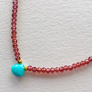 Garnet and Turquoise Camille Necklace