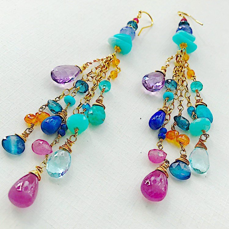 Capri Soiree Cluster Earrings