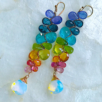 Gemstone Spectrum Chakra Earrings