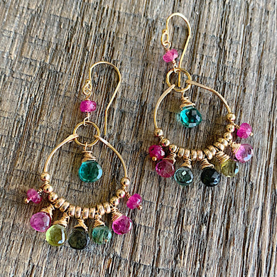 Watermelon Wisdom Chandelier Earrings