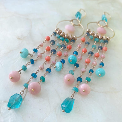 Seafoam Luxe Chandelier Earrings