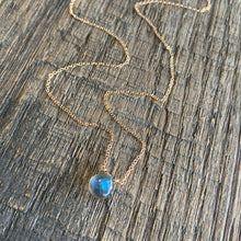 Luxe Petite Collection: Labradorite on 14k Gold