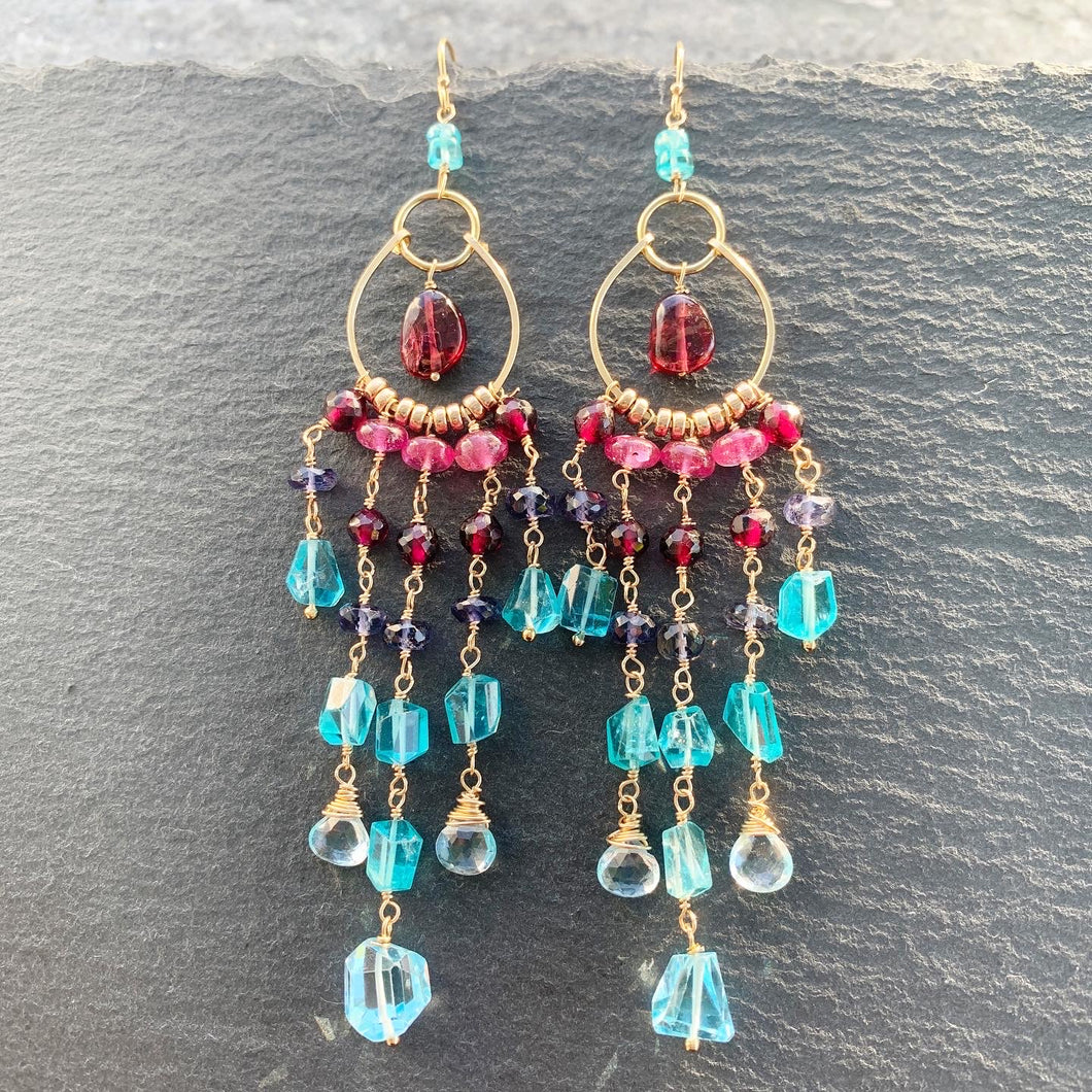 "Luxe ""Brocade"" Chandelier Earrings"