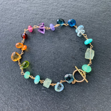 Linked Inspiration Spectrum Bracelet