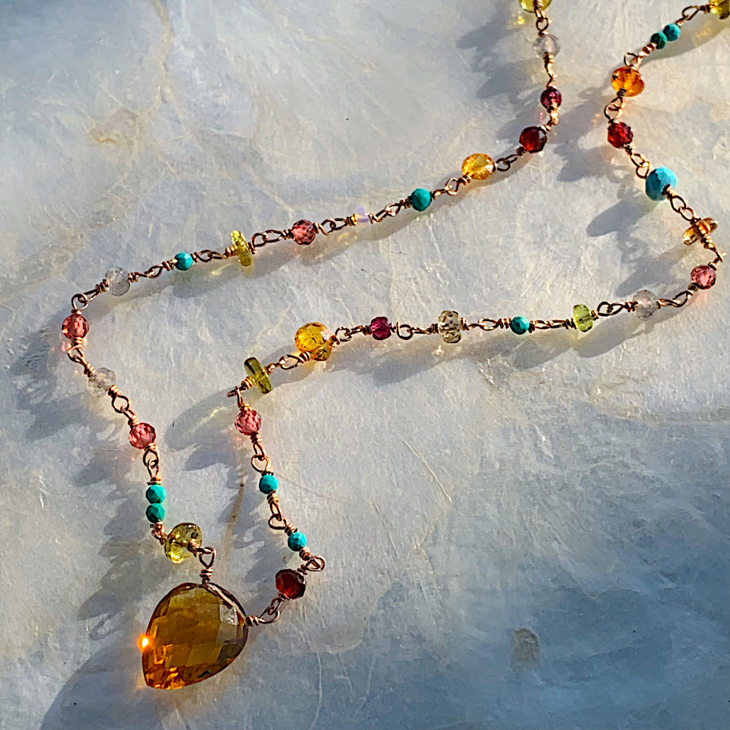 Citrine Tapestry Necklace
