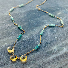 Seychelles Petite Necklace: Citrine with Gemstone Accents